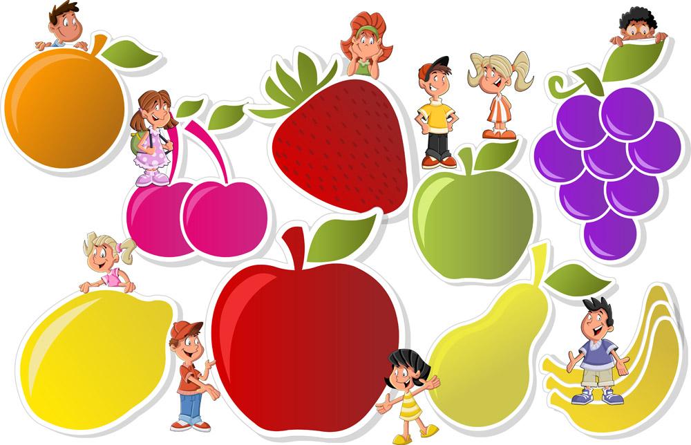 苹果娃娃矢量图