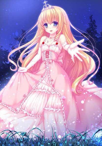 甜美公主卡通图片